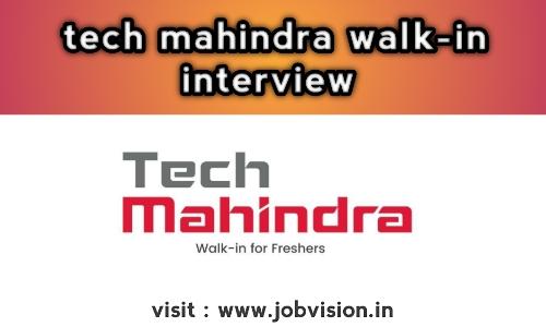 Tech Mahindra Walk In Drive