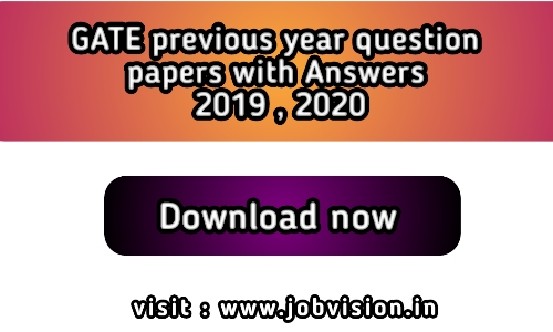 GATE Question Paper with Solution previous year All Department