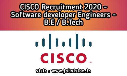 Cisco Recruitment Hiring As Software Engineer