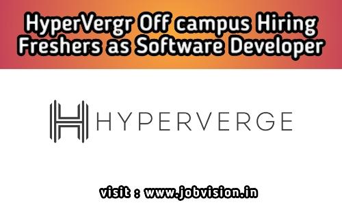 HyperVerge Off Campus Hiring