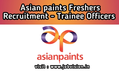 Asian Paints Freshers Recruitment