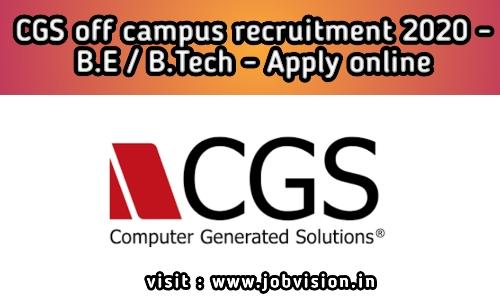 CGS Off Campus Recruitment 2020