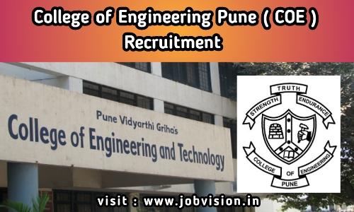 COE Pune Recruitment