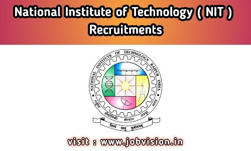 NIT Raipur Recruitment