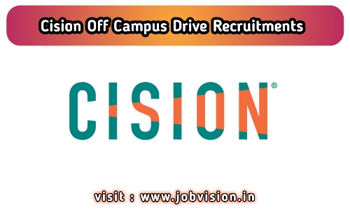 Cision Off Campus Drive Recruitments