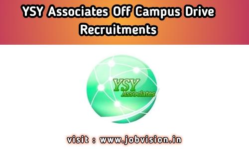 YSY Associates Off Campus Drive 2020 | Java Developer | BE / B.Tech | Apply Online @ Official website