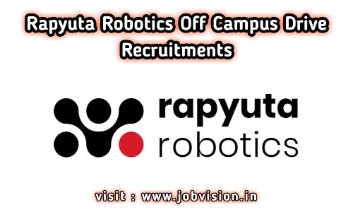 Rapyuta Robotics Off Campus Drive
