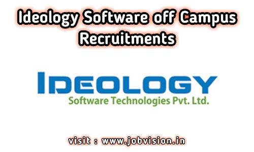 Ideology Software Off Campus Drive 2020 | Software Engineer | BE/ B.Sc/ BCA / MCA | Kerala