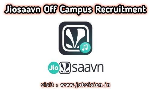 JioSaavn Off Campus Drive