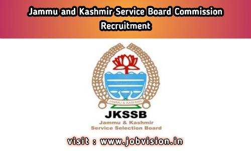 JKSSB - Jammu & Kashmir Services Selection Board Recruitment