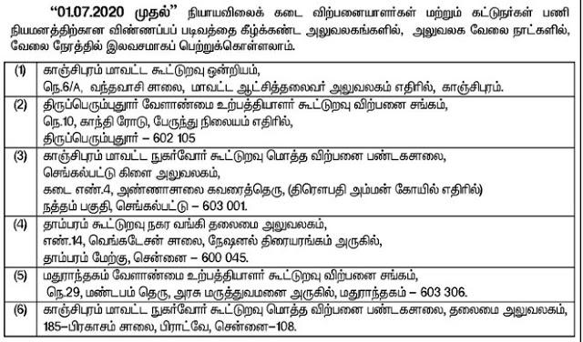 Kanchipuram Ration Shop Recruitment 2020 190 Sales Person Posts
