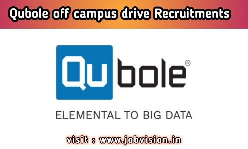 Qubole off campus drive Recruitments