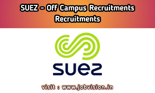 Suez India Recruitment 2020 | Electrical Engineer | BE / Diploma - EEE - Freshers | Bangalore