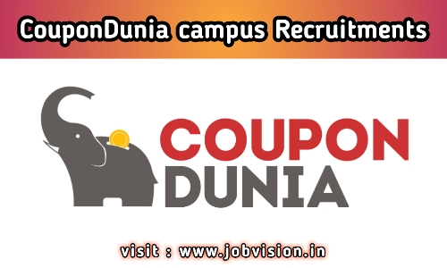 CouponDunia Off Campus Drive