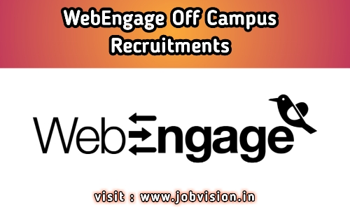 WebEngage Off Campus Drive