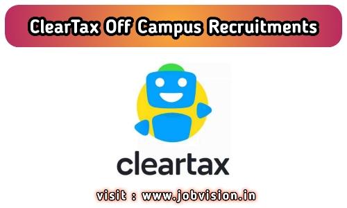ClearTax Recruitment 2020