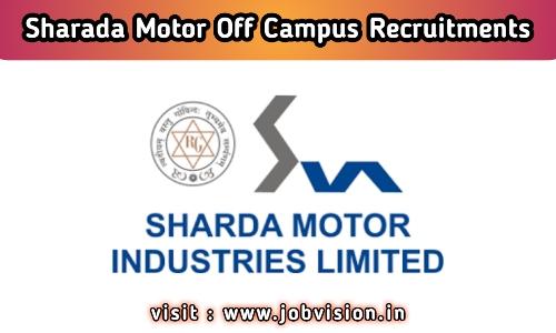 Sharda Motor Recruitment