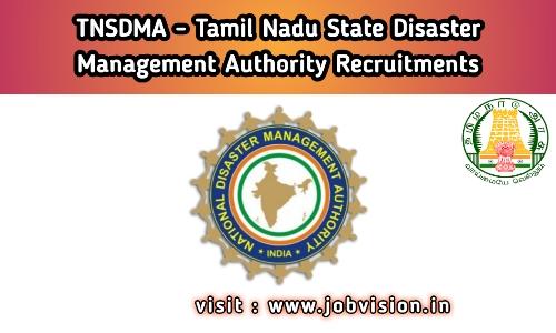 TNSDMA Recruitment
