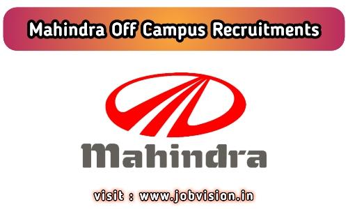 Mahindra Recruitment