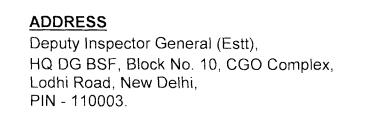 BSF address 2021 1
