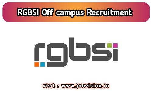 RGBSI Recruitment