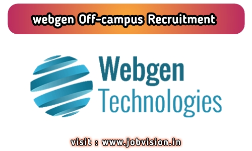 Webgen Technologies Off Campus Drive