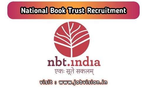 NBT - National Book Trust Recruitment