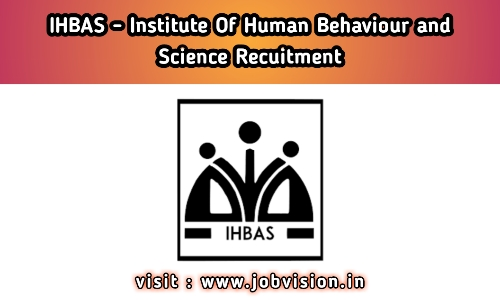 IHBAS Recruitment