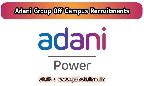 Adani Group Off Campus Drive