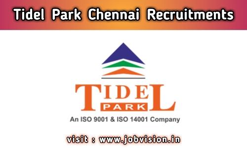 Tidel Park Chennai Recruitment