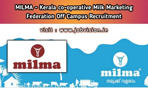 MILMA Recruitment