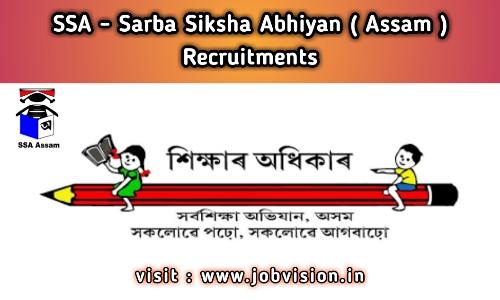 SSA - Sarba Siksha Abhiyan Mission Assam Recruitment