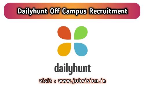 Dailyhunt Off Campus Drive