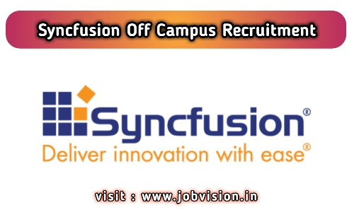 Syncfusion Off Campus Drive 2020