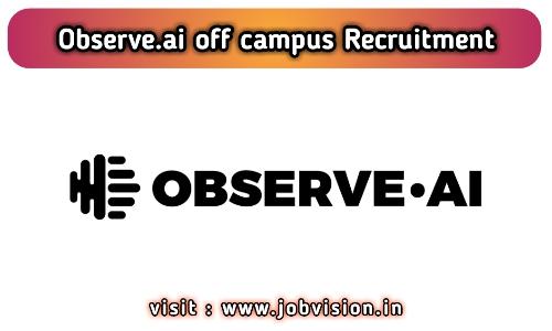 Observe.AI Off Campus Drive