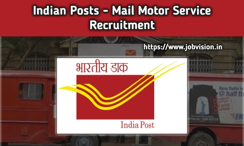 Mail Motor Service Recruitment
