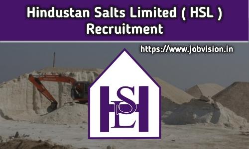 Hindustan Salts Limited Recruitment