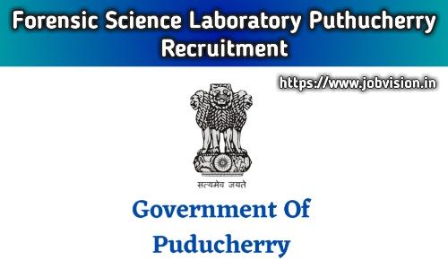 Forensic Science Laboratory Puducherry Government