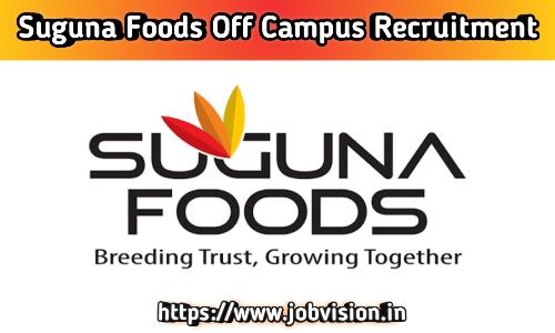 Suguna Foods Recruitment
