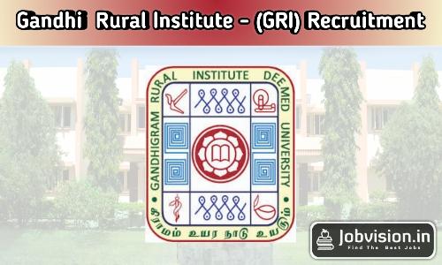 Gandhigram Rural Institute Dindigul Recruitment