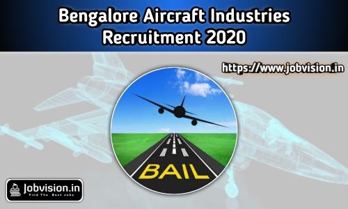 Bangalore Aircraft Industries Recruitment