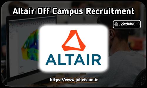 Altair Fresher Jobs