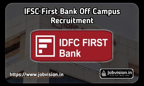 IDFC First Bank Recruitment