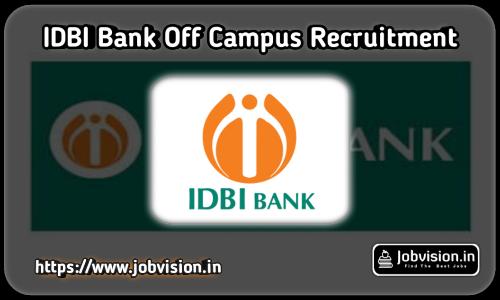 IDBI Capital Off Campus Drive