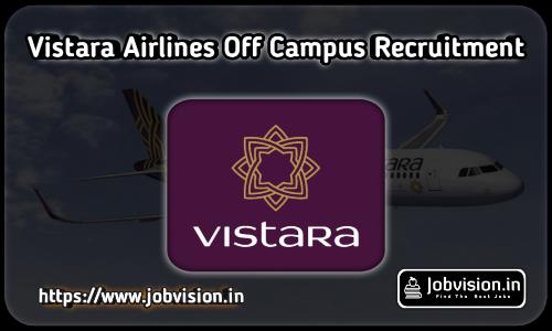 Vistara Airlines Recruitment
